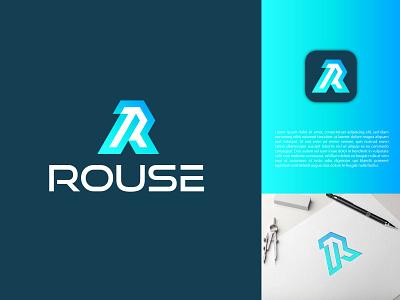 Letter R Logo Concept vector illustration design simple modern logo design modern logodesign branding logo motion graphics graphic design 3d animation ui letter r logo concept
