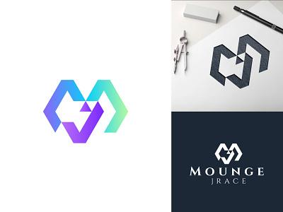 Letter M+J Logo Concept illustration design ui motion graphics graphic design 3d animation branding simple modern logo design logo modern logodesign