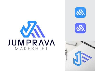 Letter JM Logo Concept 3d motion graphics animation graphic design ui vector illustration design branding simple modern logo design modern logo logodesign