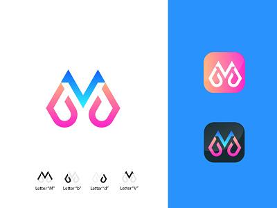 Letter MBDV Logo Concept vector illustration design simple modern logo design modern logodesign logo branding graphic design motion graphics animation 3d ui