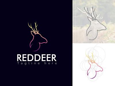 Red Deer vector illustration design simple modern logo design modern logodesign logo branding ui motion graphics graphic design 3d animation reddeer logo