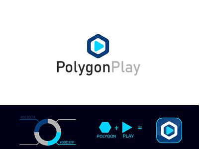 Polygon Play vector illustration design simple modern logo design modern logodesign logo branding ui motion graphics graphic design 3d animation polygonplay