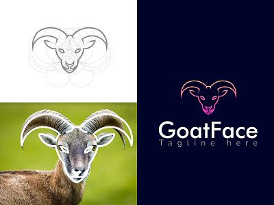 GoatFace Logo vector simple design illustration branding motion graphics graphic design animation ui modern logo design modern logo logodesign goatface logo