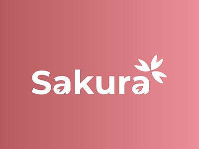 Logo Sakura website minimal icon mockups vector design designer logo designer portfolio logo branding