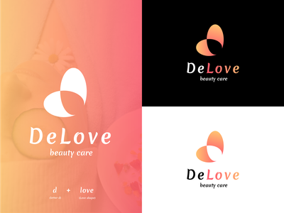 DeLove Beauty Care Logo designer brand identity logodesign graphic design design brand design designer portfolio designer logo logo branding