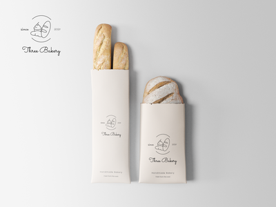 Three Bakery Logo mockups logodesign graphic design brand design brand identity branding design designer portfolio logo designer logo