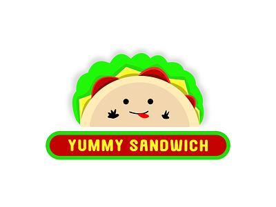 Yummy Sandwich Logo logodesign designer brand identity graphic design brand design designer portfolio logo designer logo design branding