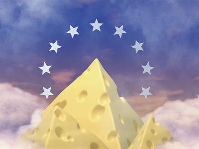 🧀✨ octane cg cgi zinzen cinema4d c4d 3d illustration cheese