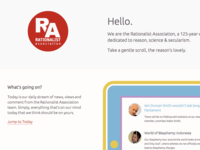 RA homepage redesign