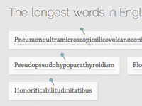 The Longest Words