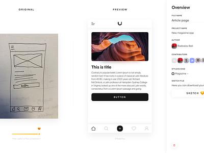 Uizard Overview screen platform wireframe uizard ux ui sketch prototype interface design app