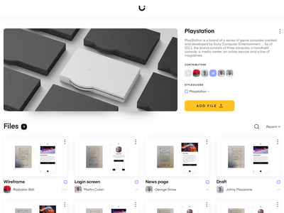 Uizard Project page minimal platform project sketch interface uizard app ui ux design