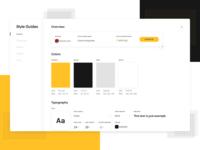 Uizard Style guides color platform minimal web app uizard sketch typogaphy ui ux style guide design