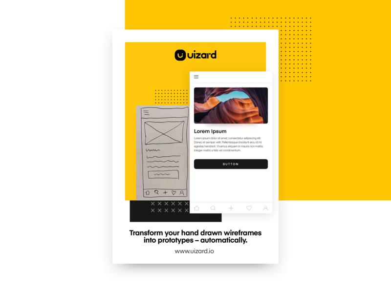 Uizard Flyers print branding wireframe typogaphy ui flyer poster minimal uizard design