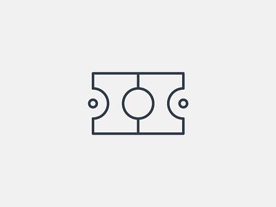Ficket Logo team sports round simple modern minimal logo identity field ticket branding