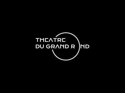 Théâtre du Grand Rond Logo identity logo design action modern type letter typography branding logo minimal theatre