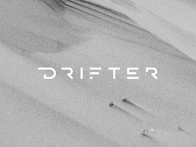 Drifter Logo mexico drum n bass music futuristic sans serif type minimal identity branding logo