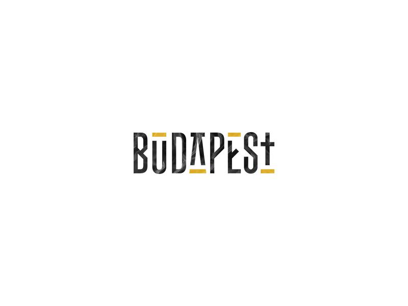 Budapest v1 black gold trip hop budapest modern logo branding type identity