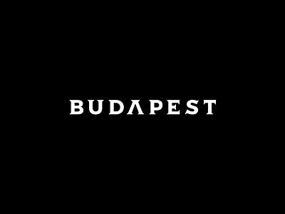 Budapest v2 simple typography white black music trip hop gothic type identity logo branding brand
