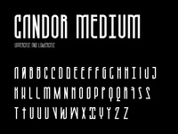 Candor medium character set