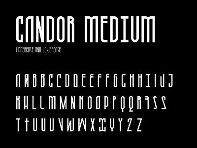 Candor medium character set vector typography typeface medium type modern letter fontself font character set character