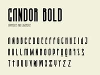 Candor bold character set