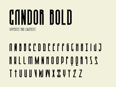 Candor bold character set vector typography typeface type bold modern letter fontself font character set character