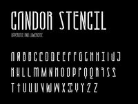 Candor stencil character set