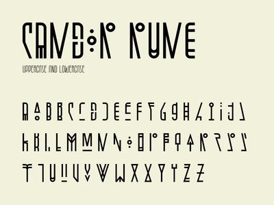 Candor rune character set