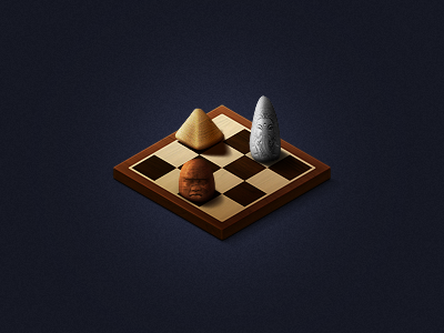 Board Game icon illustration board game chess checkers wood texture