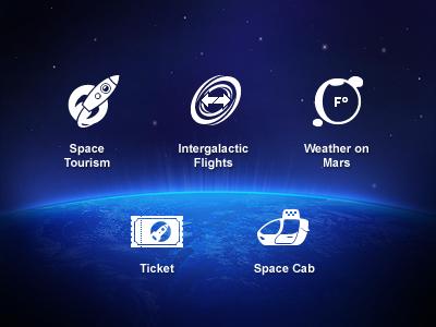 Space Tourism glyph icon