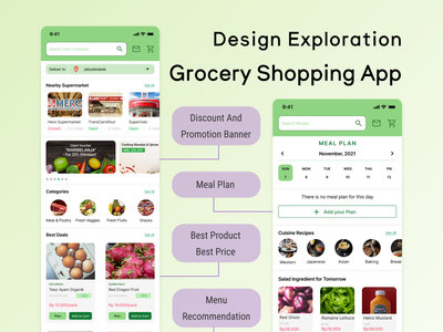 Grocery Shopping Application app ui