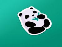 panda eating