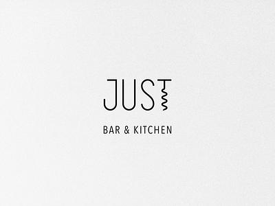 Just logo 🍸 restaurant identity brand cheers wine kitchen mark food drink bar screw corkscrew logo