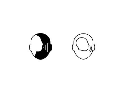 unused illustration/2/audiobook form counter wave sound shape profile minimalism illustration icon head audio ear