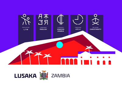 Joe Goes to Africa 3 🌴 site zambia lusaka poster africa readymag landscape icon illustration