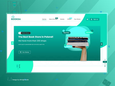 BOOKDA. Online Bookstore frontend development frontend uidesigner uidesign development developer landing page landing graphic design ux flat website web ui design art