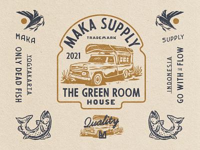 The Green Room merchandise vintage design vintage logo vintage typography badge design badge logo design