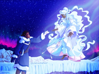 Lance and Allura photoshop design illustration