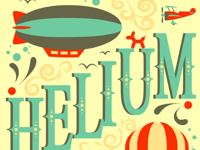 Helium Movie Poster vector design illustration