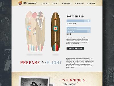 Kota Longboards Home bold classic zenman web design denver longboards