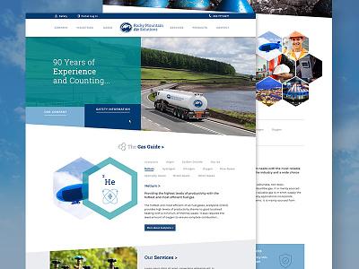 Rocky Mountain Air Solutions geometric responsive sleek blue modern clean gas zenman rmas denver design web