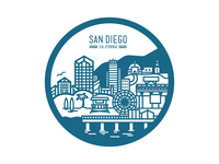San Diego - City Badge