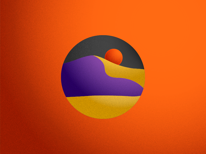 DUNE illustration hot sun dune desert orange texture gradient