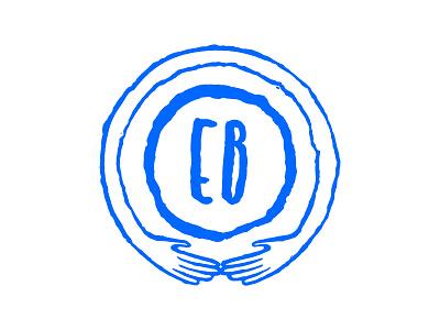 Embracing Birth babies embrace hands blue logo identity birth california sanfrancisco doula baby