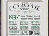 F Scott Fitzgerald Cocktail Print
