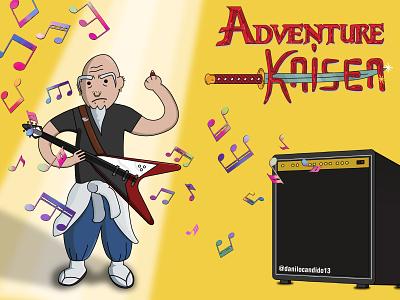 Adventure Kaisen anime fanart lettering illustration illustrator