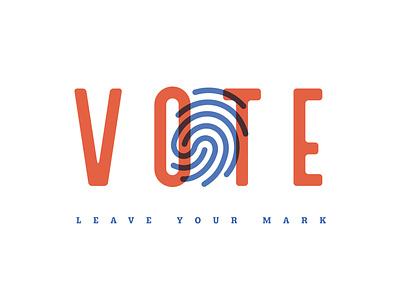 Get Out The Vote election 2020 fingerprint finger print mark vector simple design vote