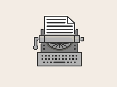 Just My Type Writer drawing typewriter illustration vector