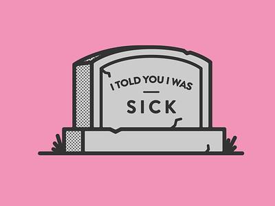 Reason I Died graveyard halftone icon simple grave gravestone design illustration vector